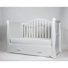 Brbaby Oslo Sleigh Cot Bed White