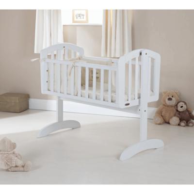 Obaby Sophie Swing Crib - White