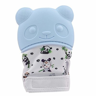 Happy Baby Happy Baby Panda Teething Mitt Blue