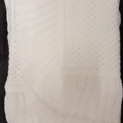 Mattan Acrylic Shawl White