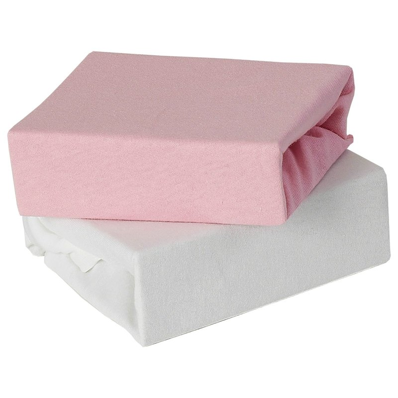 Baby Elegance 2 Pack Crib Fitted Sheets - Pink
