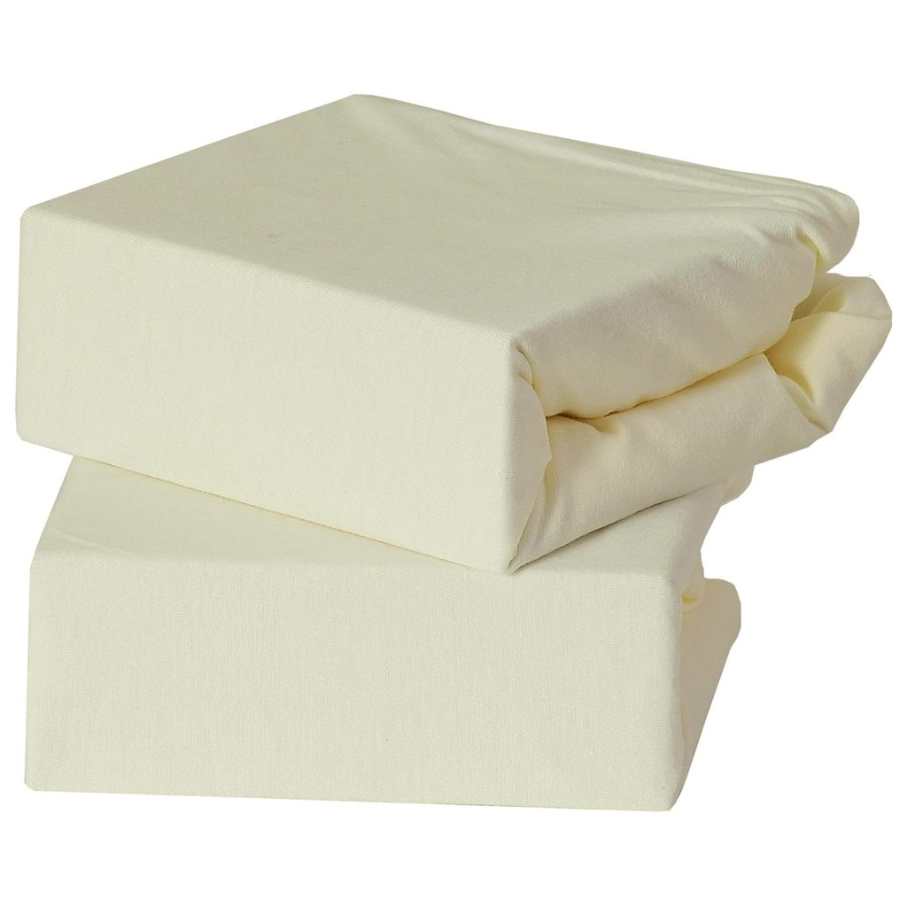 Baby Elegance 2 Pack Crib fitted Sheets - Cream