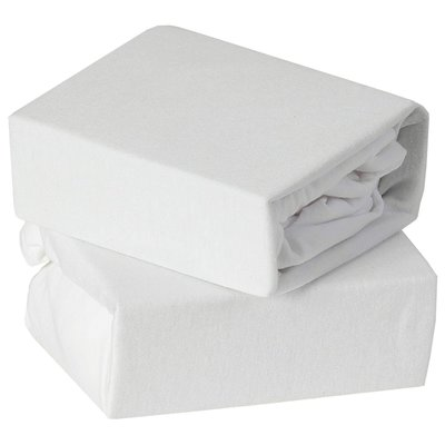 Baby Elegance 2 Pack CotBed Fitted Sheets - White