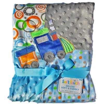 Tractor Embroidered Soft Touch Blanket