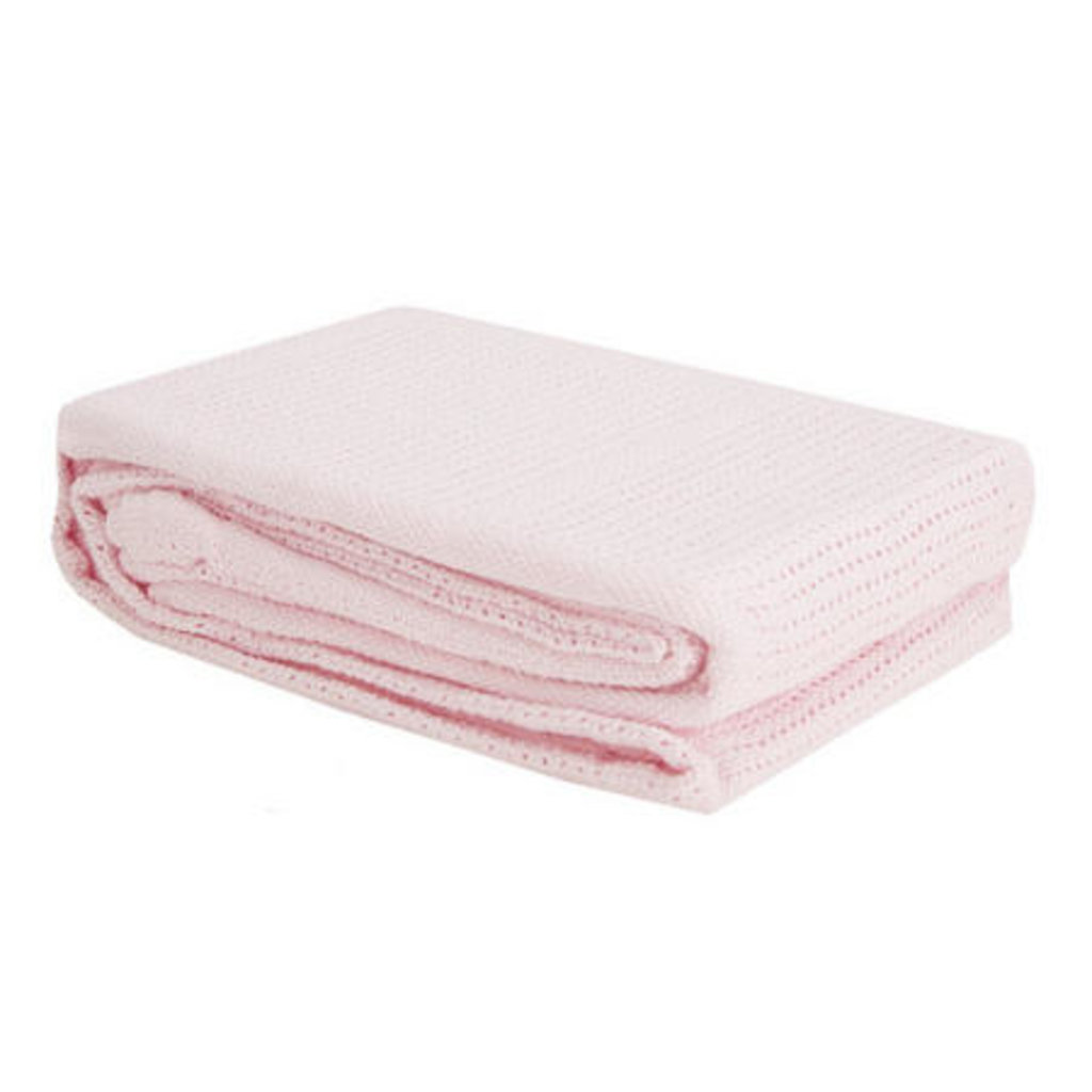 Baby Elegance Cellular Pram Blanket Pink 75x100cm