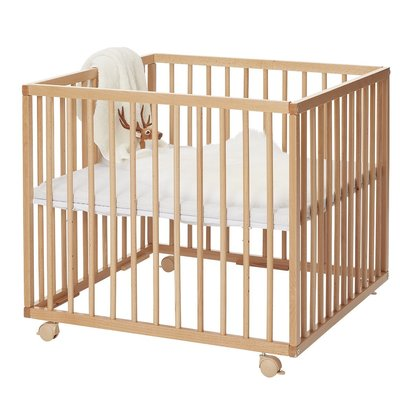 Wooden Folding Playpen - Natural