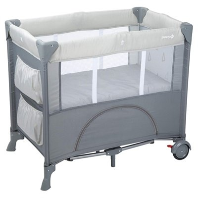 Safety First Mini Dreams Warm Grey Travel Cot
