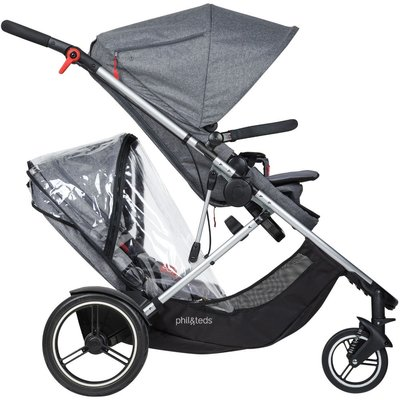 Phil&teds Voyager Buggy 2016 Storm Cover for Double
