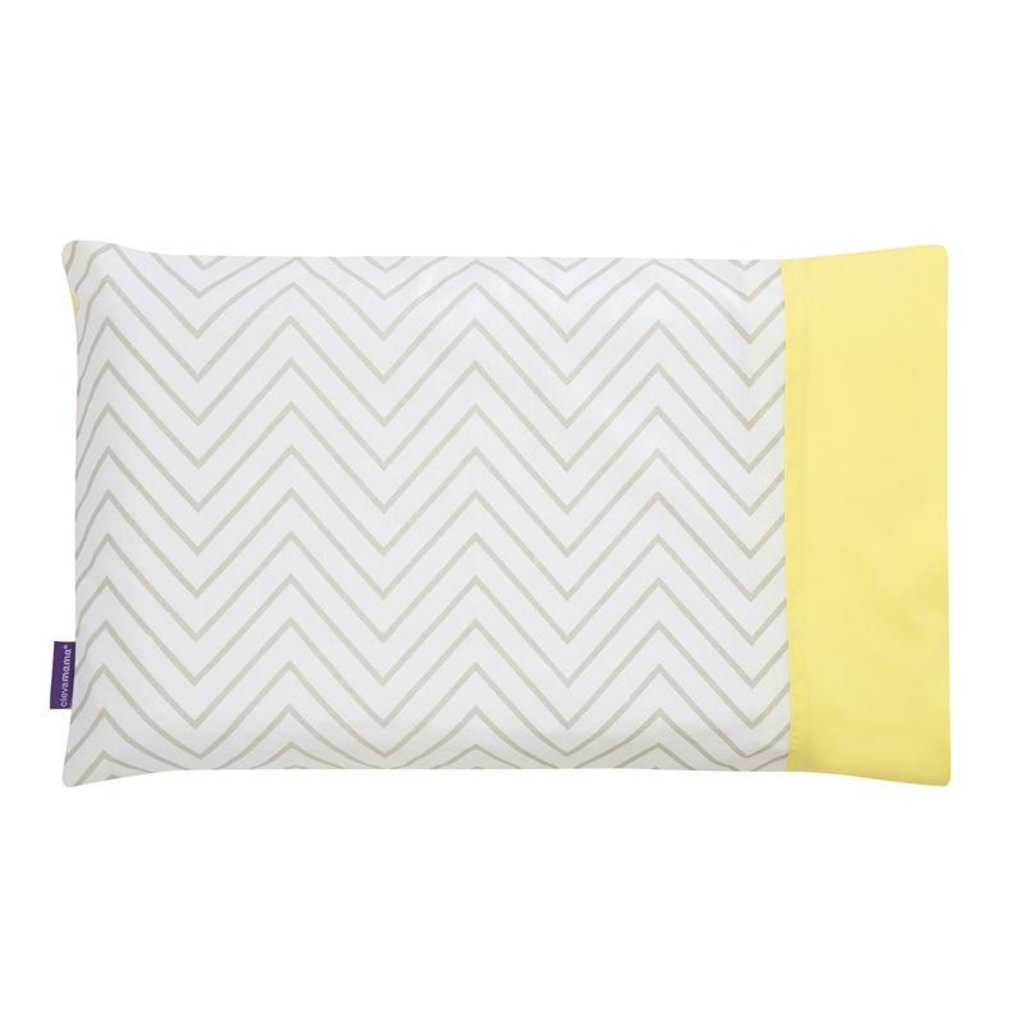 Clevamama Clevafoam Baby Pillow Case Grey/Yellow