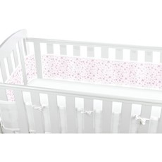 Breathable Mesh Cot Liner Pink