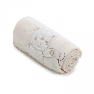 OBABY Cream & White baby blanket