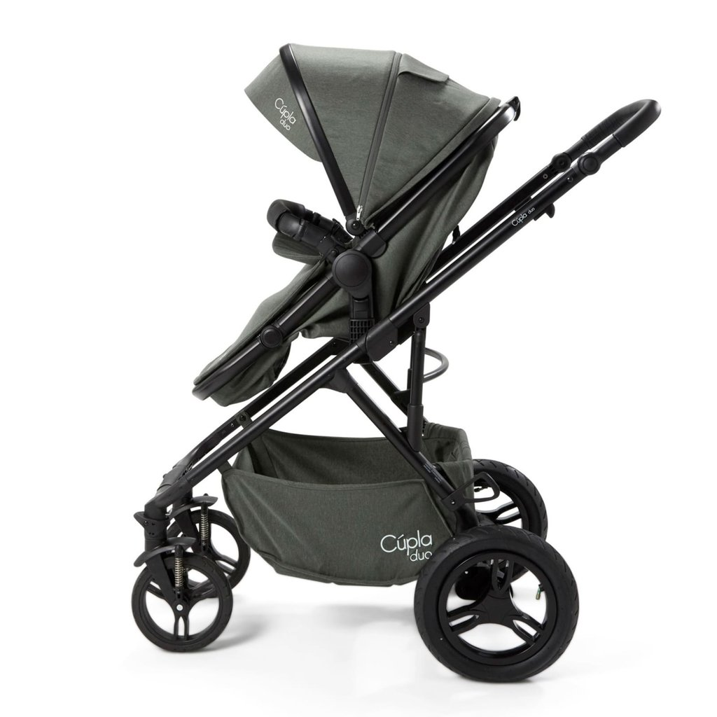 Cupla Duo Twin Travel System Forest Green