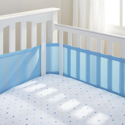 BreathableBaby Mesh Cot Liner-Blue