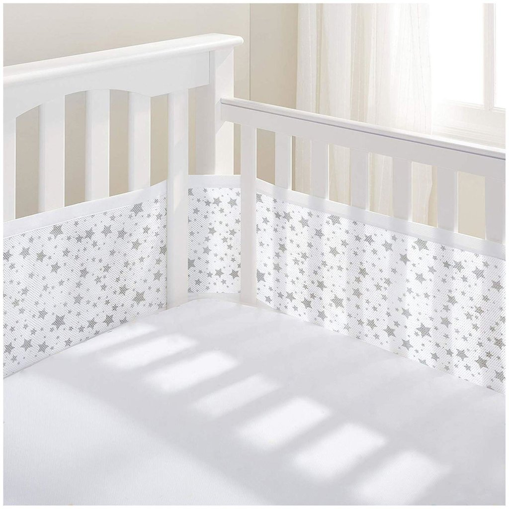 Breathable Mesh Grey Cot Liner Twinkle
