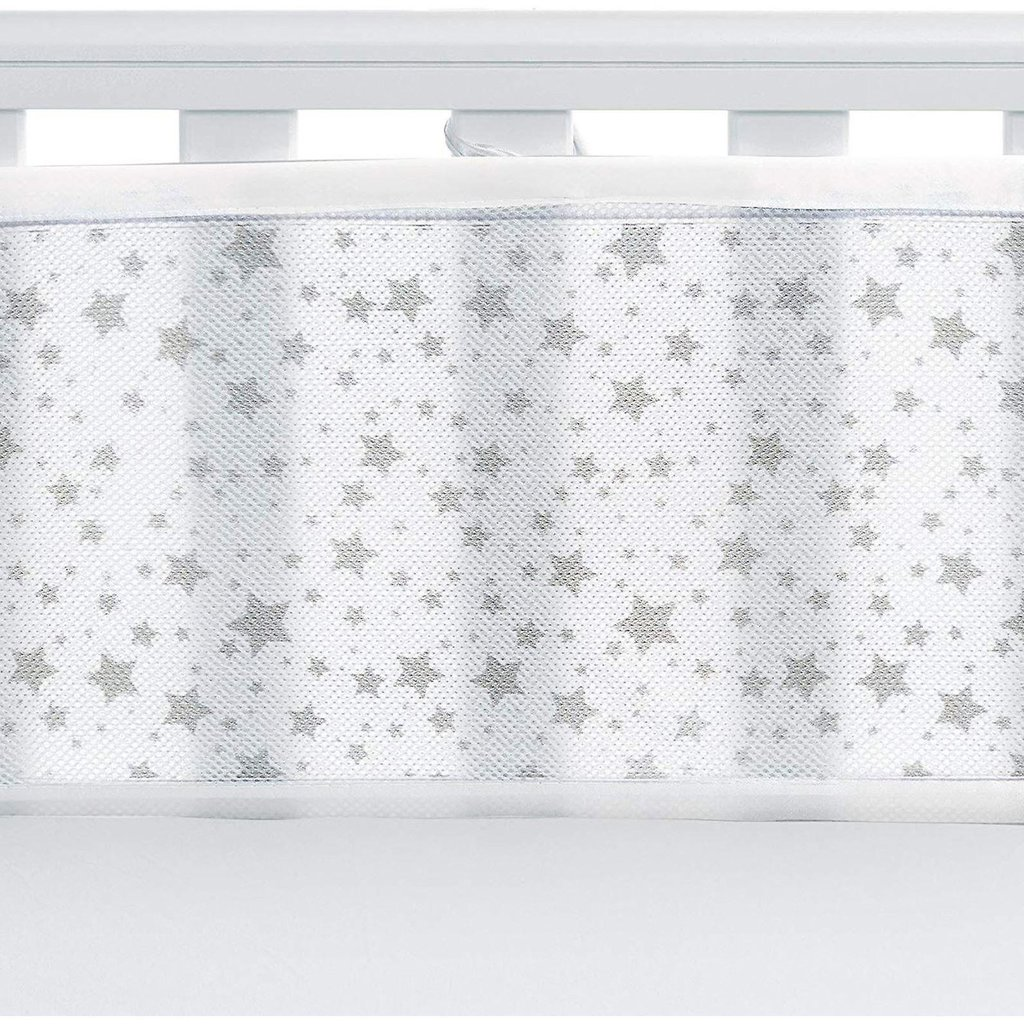 Breathable Mesh Cot Liner Twinkle Grey