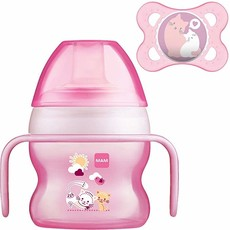 Mam MAM Starter Cup Pink with Soother