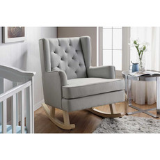 Babylo Soothe Easy Rocking Chair Grey