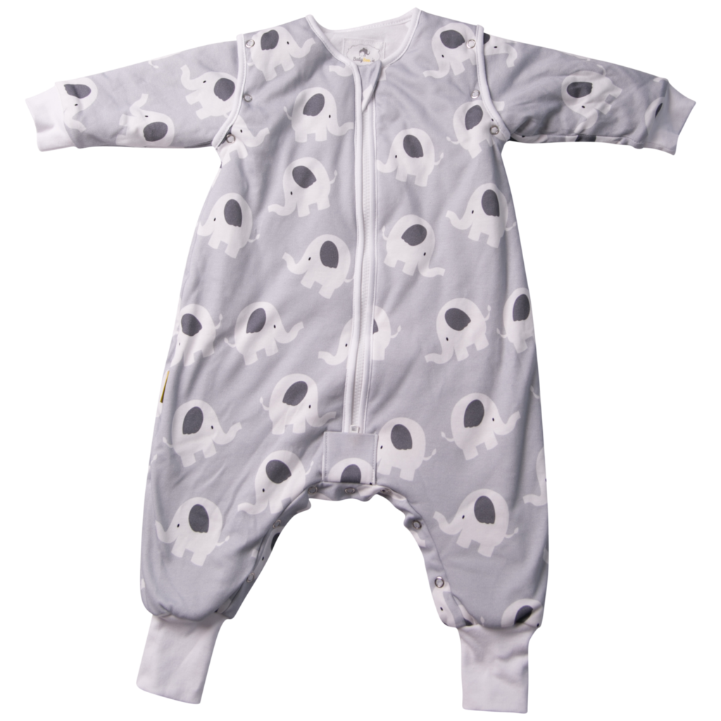 Babyboo Snuggleboo Grey Ellie Elephant Sleep Suit (2.5t) - 6-12mths