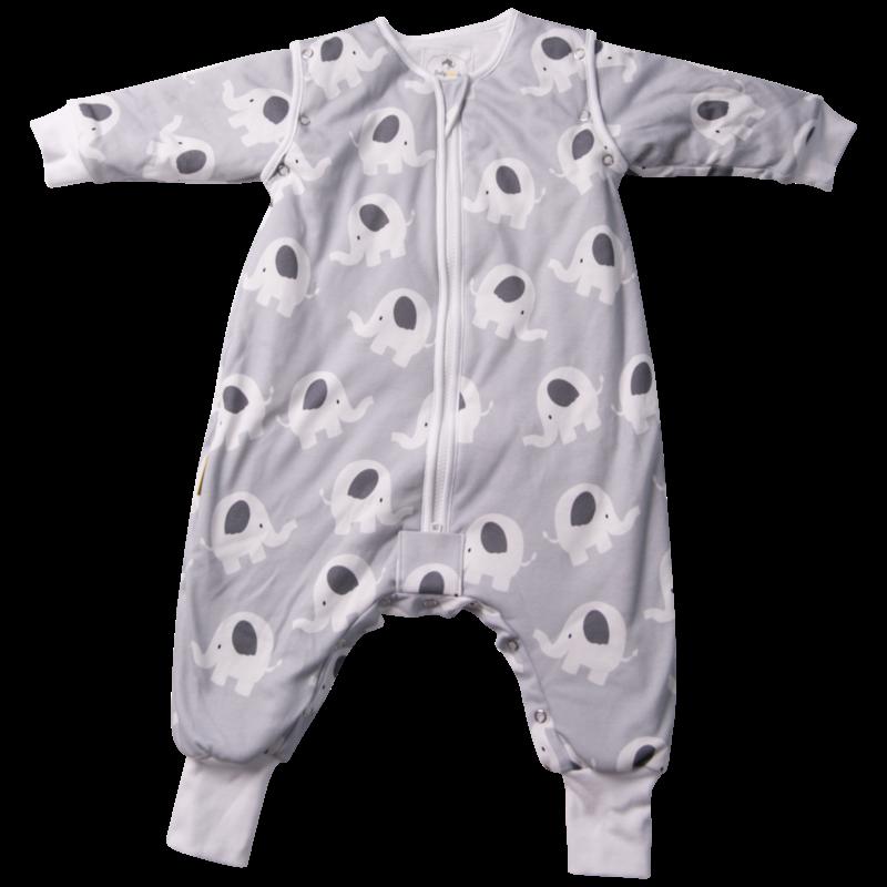 Babyboo Snuggleboo Grey Ellie Elephant Sleep Suit (2.5) - 2-4yrs