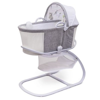 Purflo Purflo Breathable Bassinet Grey/White