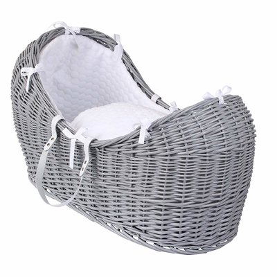 Br nursery Cuddles Pod Grey Wicker - White Dimples