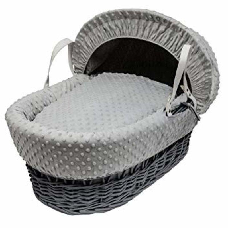 Cuddles Cuddles Grey Wicker Grey Dimples Moses Basket