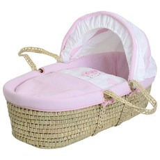 Baby Elegance - Pink Star Ted Moses Basket