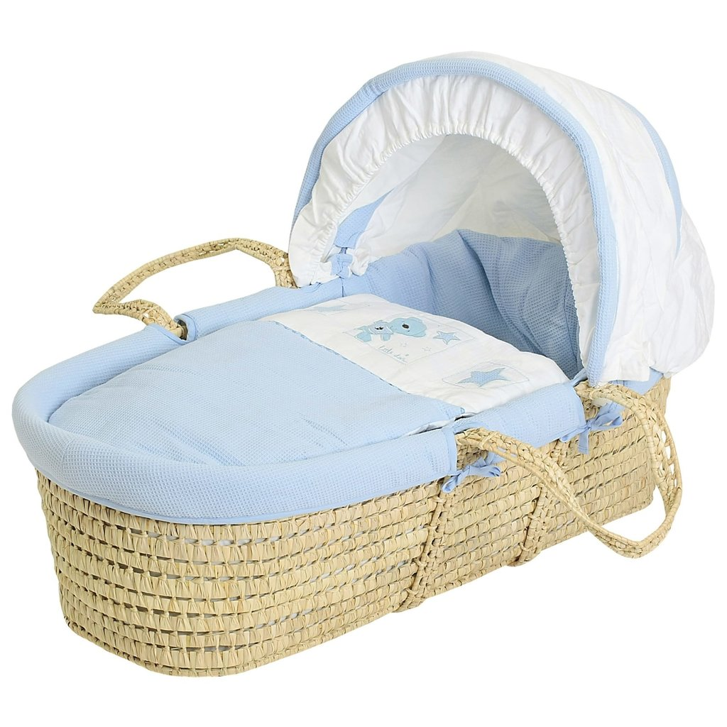 Baby Elegance - Blue Star Ted Moses Basket