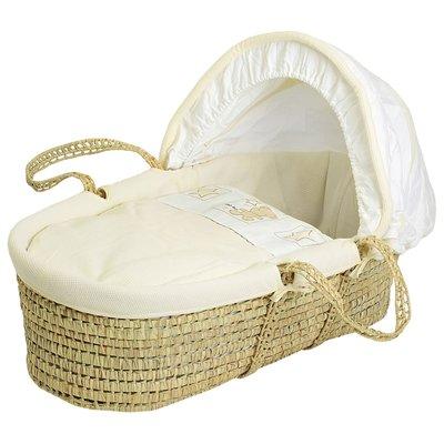 Baby Elegance - Cream Star Ted Moses Basket