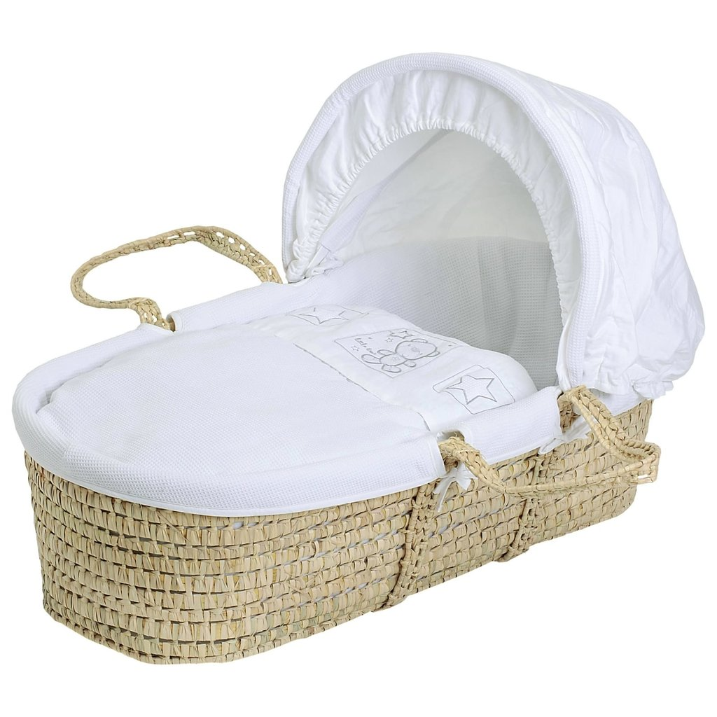 Baby Elegance - Star Ted White Moses Basket