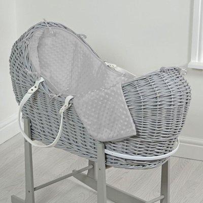 Br nursery Cuddles Pod Grey Wicker - Grey Dimples