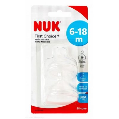 Nuk Nuk First Choice+ Silicone Teat 6-18m L