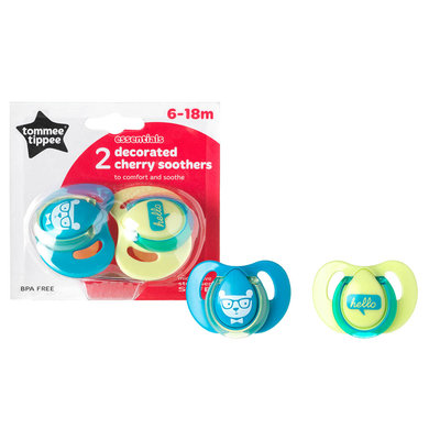 Tommee Tippee Tommee Tippee Essentials Cherry Soothers 6-18m