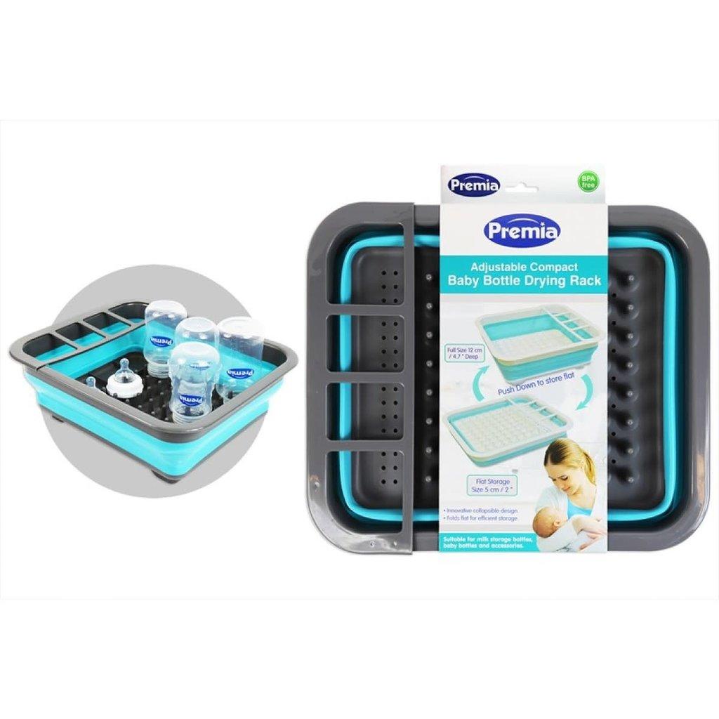 Premia Adjustable compact baby bottle drying rack