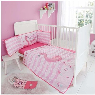 Sheelin Baby bumper set-Pink Flamingo