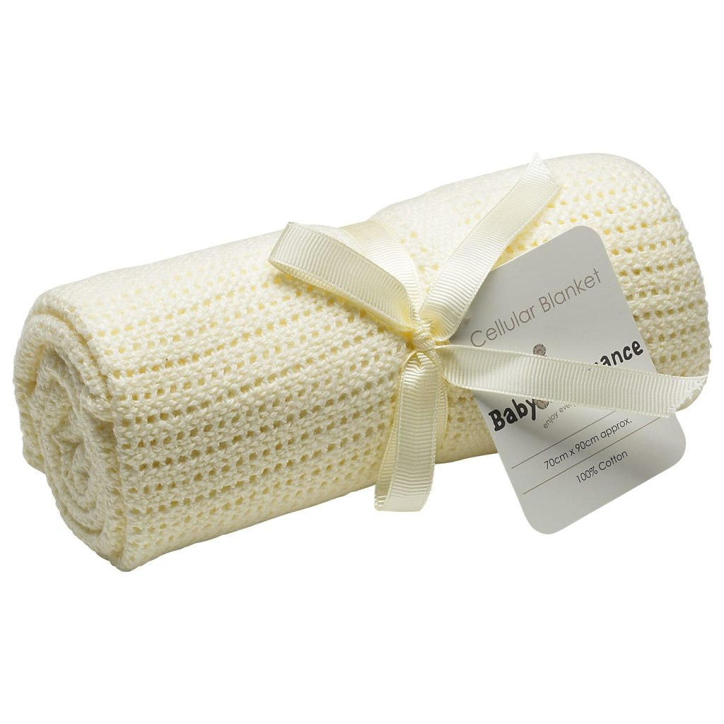 Baby Elegance Rolled Cellular Cream Blanket