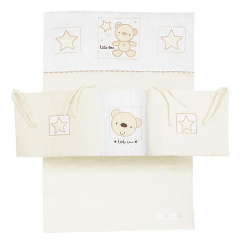 Baby Elegance Star Ted Cream Cot Bumper Set