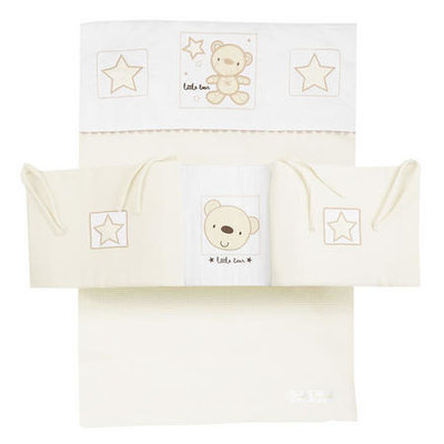 Baby Elegance Star Ted Cream Cot Bumper Set