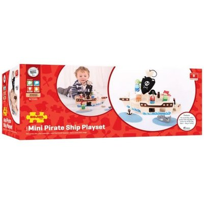 Bigjig Bigjigs Pirate Ship Mini Playset