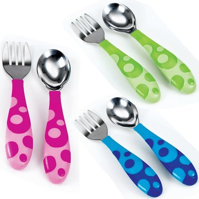 Munchkin Munchkin Toddler Fork & Spoons Set Assorted Colours