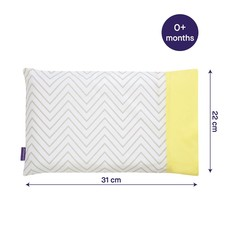 Clevamama Clevafoam Pram Pillow Case Grey/Yellow