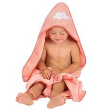 Clevamama Clevamama Apron Baby Bath Towel Coral