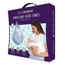 Clevamama Clevamama Apron Baby Bath Towel Blue