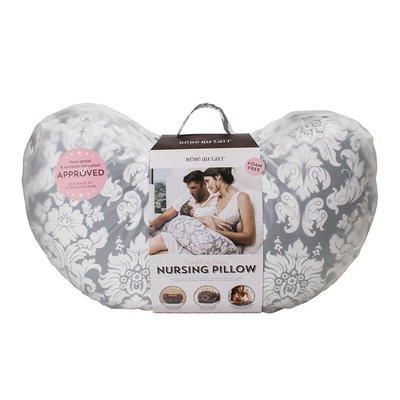 Bebe au Lait Complete Nursing Pillow- Chateau Silver