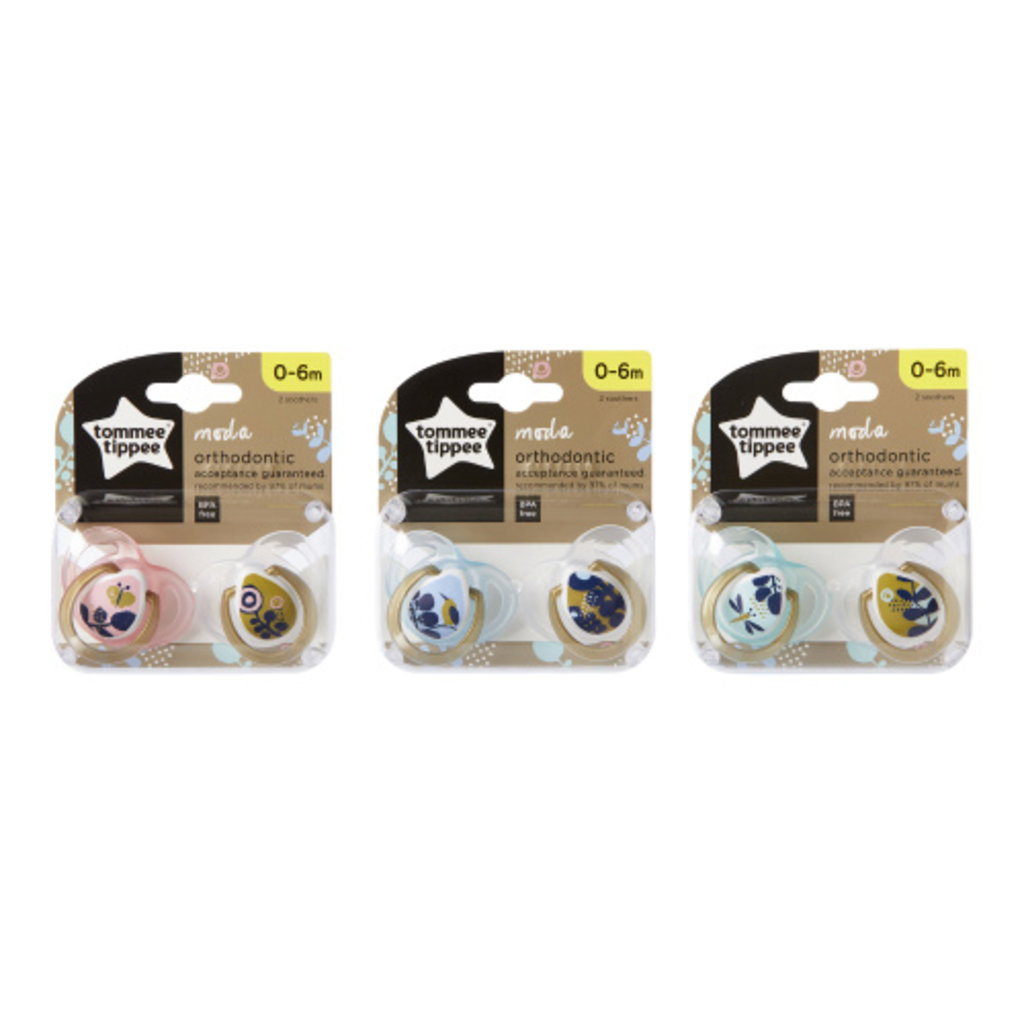 Tommee Tippee Tommee Tippee Moda Orthodontic Soothers 0-6months