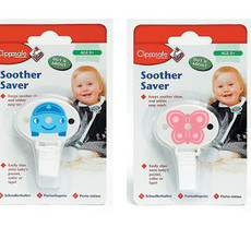 Clippasafe Soother Saver     Blue/Pink    0+