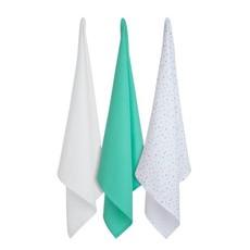 Clevamama Clevamama Bamboo Muslin Cloth Grey/Mint