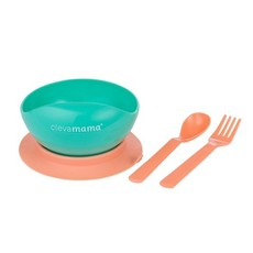 Clevamama Clevamama Suction Feeding Bowl-with Cutlery
