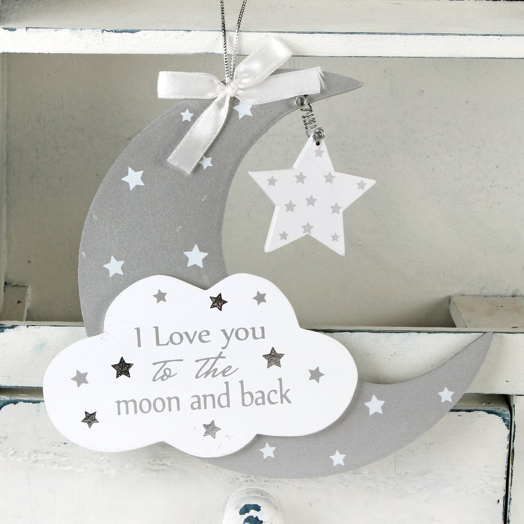 Moon & Cloud Hanging Plaque