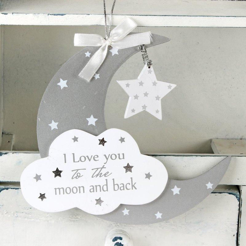 Moon & Cloud Hanging Plaque